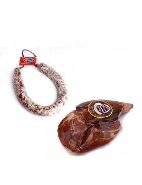 lote chorizo zamorano + jamon