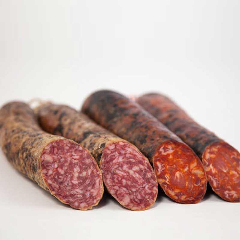 Lote Embutido de Bellota. Chorizo y Salchichón