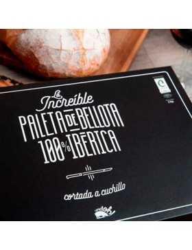 Paleta de Bellota 100% ibérica cortada a cuchillo (Salamanca)