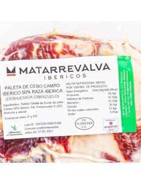 ingredientes Paleta de Cebo Campo 50% ibérica Deshuesada