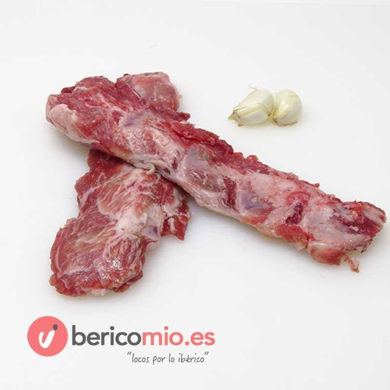 Costillas de cerdo ibérico sin hueso