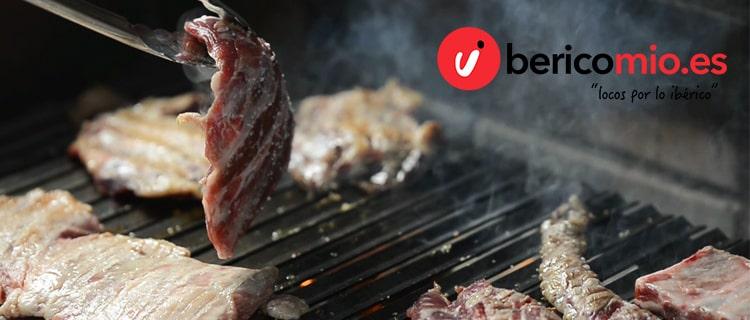 Carne ibérica en barbacoa