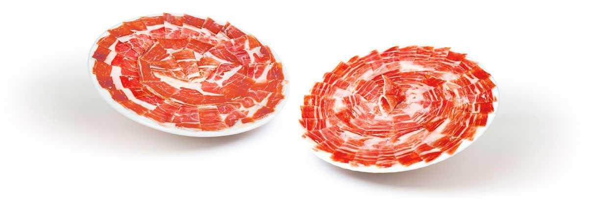 Al rico plato de jamón ibérico