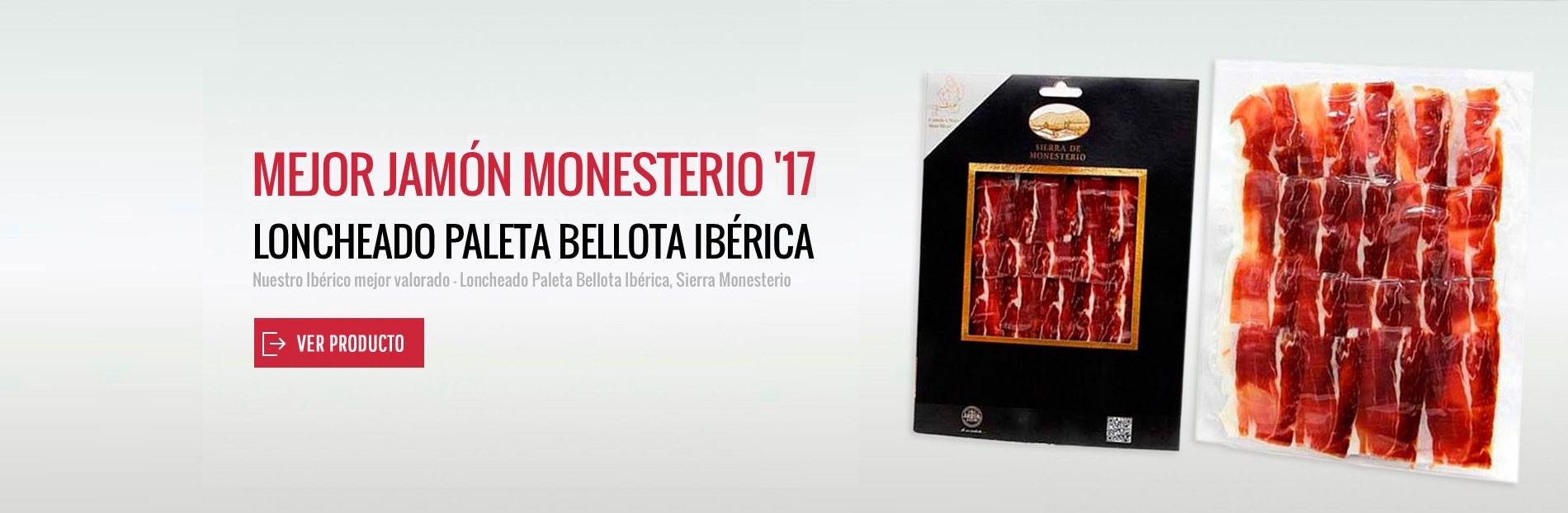 Comprar Paleta Ibérica de Bellota, Sierra Monesterio - Loncheado